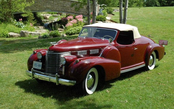 <p><strong>1938 Cadillac Brunn-Bodied V-8 Roadster</strong></p> <p>And Cadillacs, including this very special 1938 Cadillac Brunn-Bodied V-8 Roadster. Originally custom-built for for Ralph Pulitzer of the Pulitzer Prize family in New York, it is believed to be the last custom-bodied Cadillac roadster ever produced. Complete with rumble seat, golf club door, and original design blueprints, it is truly one of a kind.</p>