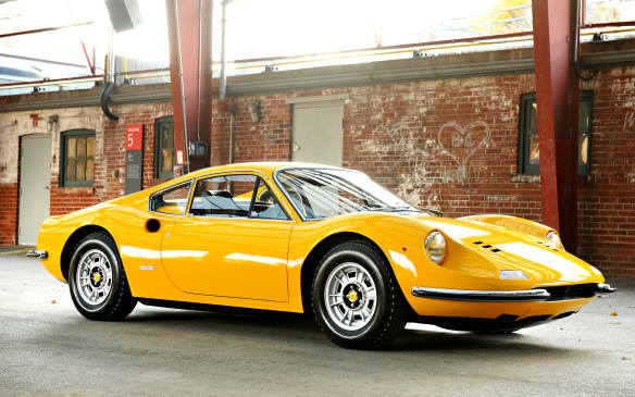 <p>More modern but equally enticing machinery will include this 1971 Dino 246 GT – the coupe version of Ferrari's famed six-cylinder, mid-engined sports car, which was introduced to be a competitor for the Porsche 911. This particular car is one of just six Euro-spec Dino GTs brought to Canada in 1971.</p>