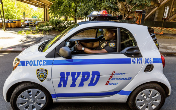 NYPD Smart Fortwo driven by Officer Ralph Jefferson