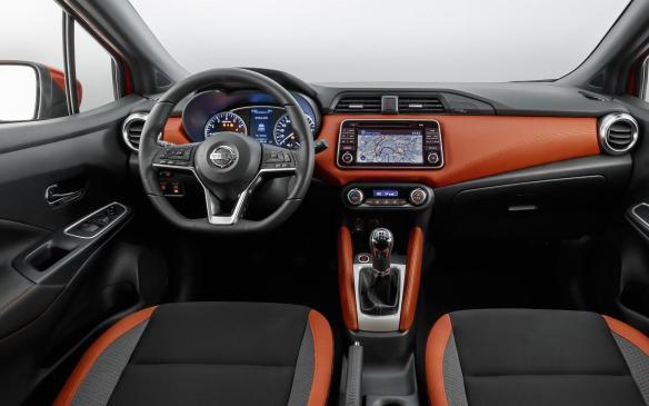 <p>2017 Nissan Micra interior</p>