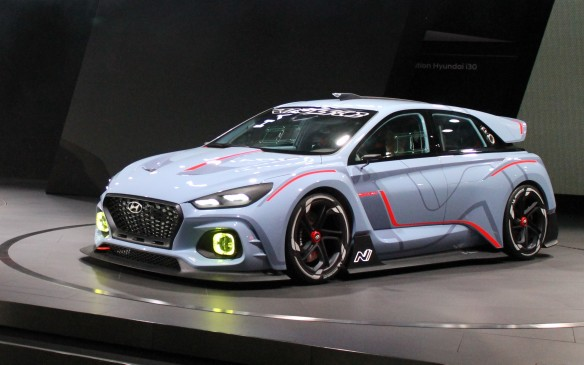 <p>Just like the Civic, there will also be a performance edition of the i30. Hyundai showed off its rally-racer concept for the RN30, which is estimated to create 375 hp and which will be stripped of all excess weight.</p>