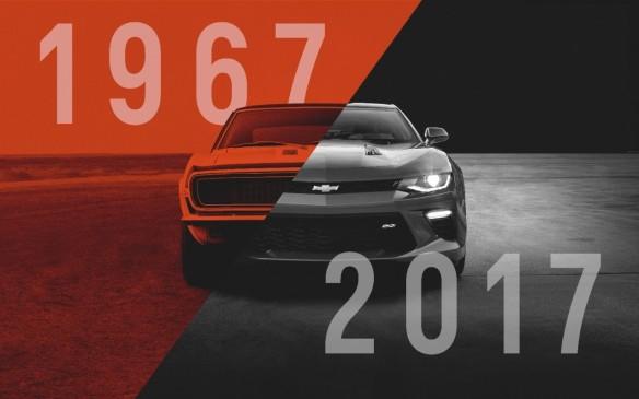 <p>1967 Camaro vs 2017 Camaro</p>