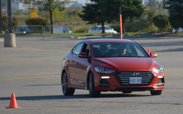 <p>The 2017 Hyundai Elantra Sport is a turbocharged variant to an already successful compact sedan. Under the hood, you'll find that turbo 1.6-litre four-banger that unleashes 201 hp and 195 lb.-ft. of torque. Hyundai hopes to unleash some excitement with this product, as it's not only fast, but it gets a unique sporty look with a hexagonal grille and horizontally-mounted LED lights that are finished off with 18-inch aluminum-alloy wheels.</p>