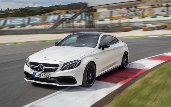 <p>The Mercedes AMG C 63 S Coupe is the cream of the crop when it comes to the C-Class. It's an all-wheel-drive monster that gets stretched out in width and sits on 19-inch aluminum alloys. Under the hood is the real treat – a twin-turbocharged, 4.0-litre V-8 that pumps out 503 hp and 516 lb.-ft. of torque that can blast off from 0-100 km/h in under four seconds.</p>