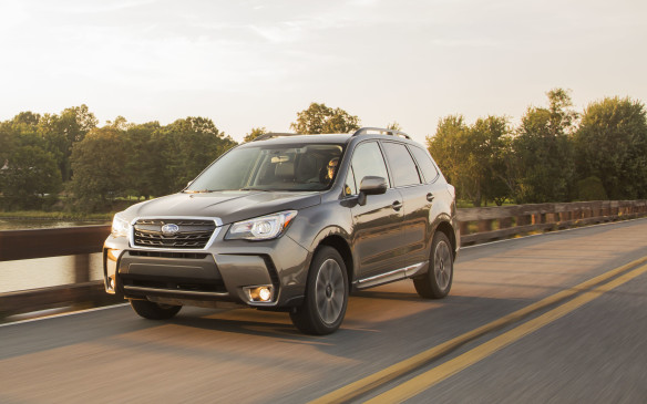 <p>The Subaru Forester has always been that all-wheel-drive warrior. With a mid-cycle refresh in 2017, the Forester  receives the third-generation EyeSight technology, as well as enhancements to comfort, styling and performance. Power is derived from a 170-hp 2.5-litre four-cylinder boxer or the upgraded turbo, 2.0-litre engine that cranks out 250 hp and 258 lb.-ft. of torque.</p>