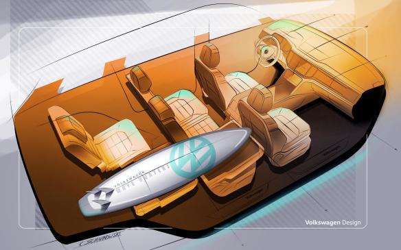 <p>2018 Volkswagen Atlas seating</p>