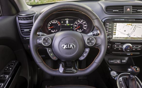 <p>2017 Kia Soul Turbo cockpit</p>