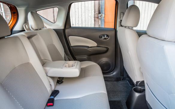 <p>2017 Nissan Versa Note rear seats</p>