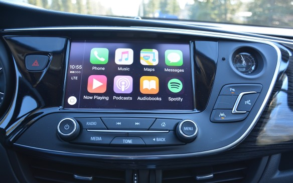 <p>General Motors has been a big pusher of connectivity technology and the Detroit brand has brought all of that to the Buick Envision. Standard features include LG 4TE WiFi, Apple Car Play and Android Auto, as well as OnStar assistance.</p>