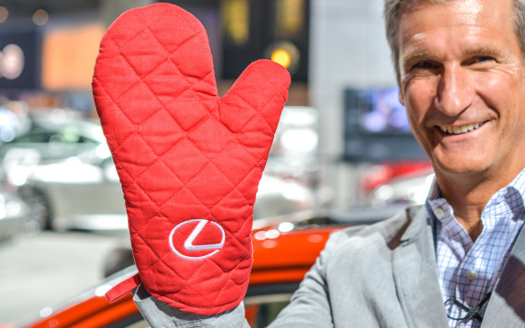 "<p>Lexus even made a driving jacket and mitts to go with the car. ""Some cars require driving gloves. The handling on the Sriracha IS is so hot, custom oven mitts are necessary.""</p>"