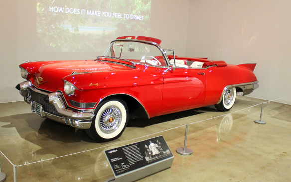 <p>As the sign behind this 1957 Cadillac Eldorado Biarritz Convertible suggests, the museum is not just about the cars but also how they interact with people.</p>
