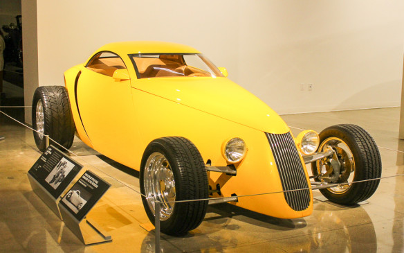 <p>True to the diverse nature of the museum and its strong California connection, this example of outstanding design, called the Aluma Coupe, comes from the shop of custom car builder Boyd Coddington.</p>