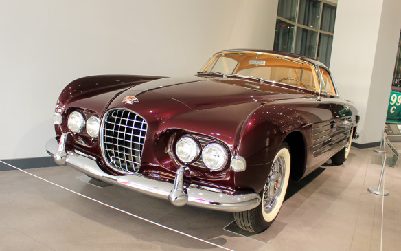 <p>Star cars are represented out front by this 1953 Cadillac Series 62 Coupe by Ghia – one of just two such custom-bodied specials built, which was a gift from Prince Ali Khan, the world's richest man at the time, to the actress Rita Hayworth.</p>