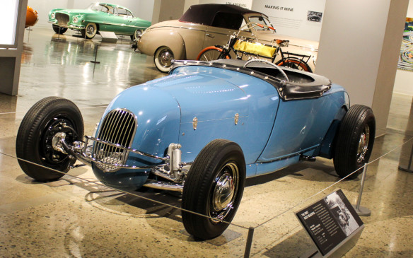 <p>Hot Rods, Customs and Dream Cars were all the subjects of Petersen Publications' many magazines and they're all examples of automotive design trends and evolution in the museum, foreground to background respectively.</p>