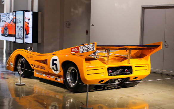<p>One of the most dominant race cars ever was this 1971 McLaren M8E/F Can-Am car, driven by New Zealander Denny Hulme – 'The Bear'.</p>