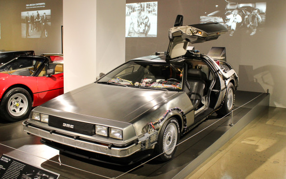 <p>Of course, Doc and Marty's Delorean DMC 12 time machine from 'Back to the Future' is there.</p>