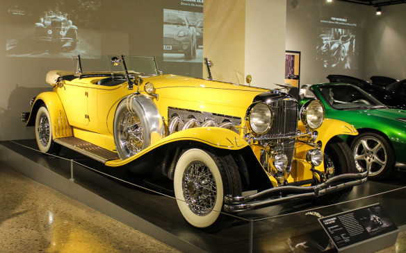 <p>While the Petersen has many Grand Classics in its collection, few are currently on display. This Duesenberg Model SJ from the movie 'Gatsby' is a spectacular exception… but it's not real. It's a replica made for the movie.</p>