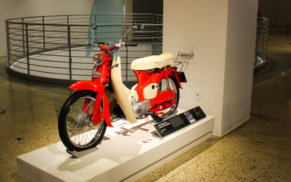 <p>There's plenty for two-wheel enthusiasts to see as well, including this 1961 Honda 50, which began the brand's popularity in America and almost single-handedly made motorcycles respectable to the masses.</p>
