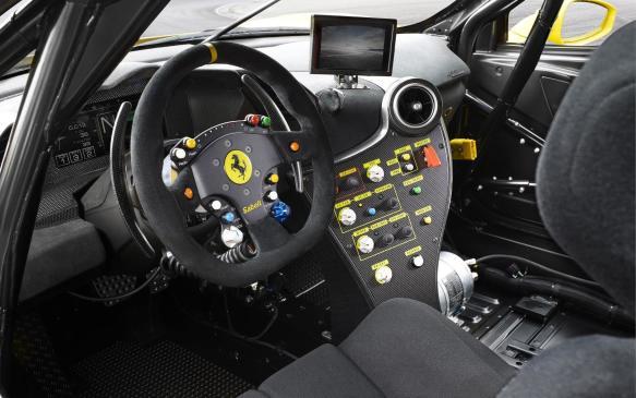 <p>Ferrari 488 Challenge cockpit</p>
