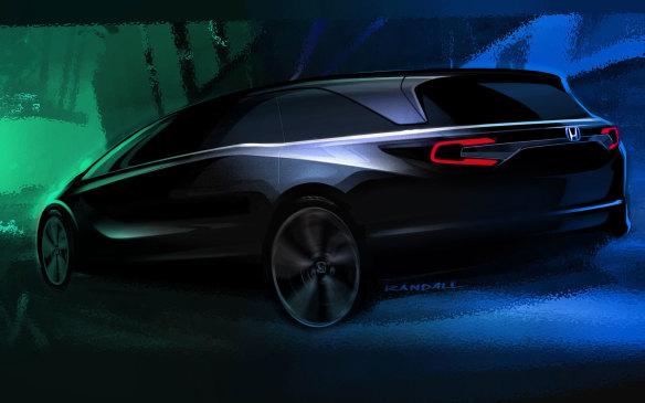 <p>2018 Honda Odyssey teaser sketch</p>