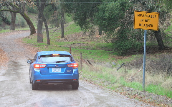<p>We drove both versions of the car in wet weather in California. The roads were slippery, but the all-wheel-drive systems made the cars feel more secure. It was ideal Subaru weather.</p>