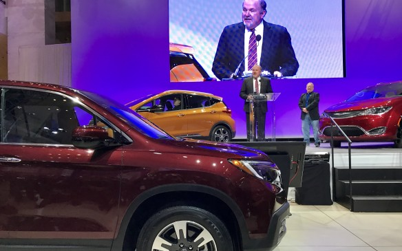 <p>7: 20 AM - The Honda Ridgeline won the 2017 North American Truck of the Year Award, repeating its inaugural win in 2006. It fid so with a score of 305 points, beating out the Ford Super Duty family of full-size, heavy-duty pickups, whichranked second with 193 points and the Nissan Titan in third, with a total of 72 points.</p>