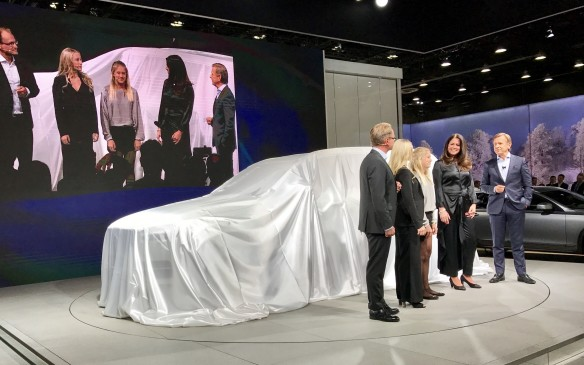 <p>1:25 PM - That's not a new production model under wraps at the Volvo stand. Rather it's an experimental, semi-autonomous XC90 SUV destined for delivery to the first of 100 families who will live with it and test it in real-life conditions.</p>
