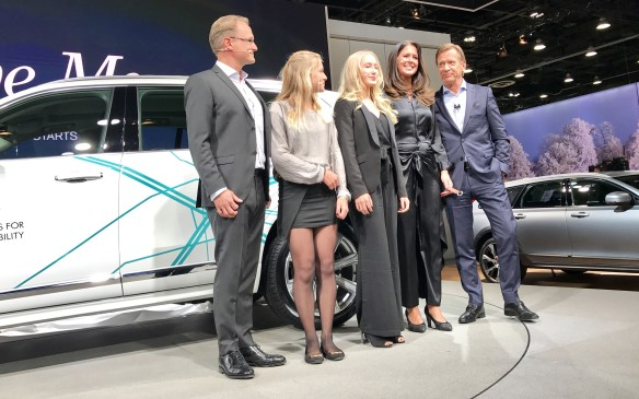 <p>The Hain family from Gothenburg, Sweden  took delivery of their XC90 on stage from Volvo's CEO Hakan Samuelsson. They won't get to relax too much behind the wheel, though - the car isn't completely autonomous, and is just the start of the major project designed to lead ultimately to that goal.</p>