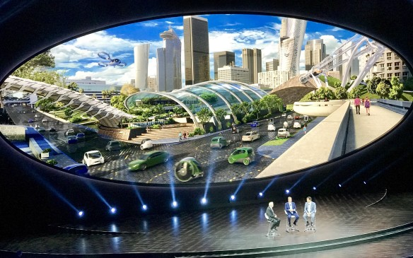 <p>Much of Ford's presentation to the press concerned its vision for living and moving in the cities of the future. Bill Ford and Mark Fields spoke of how Ford wants to develop smarter vehicles and smarter transportation networks to improve urban air quality and traffic congestion.</p>