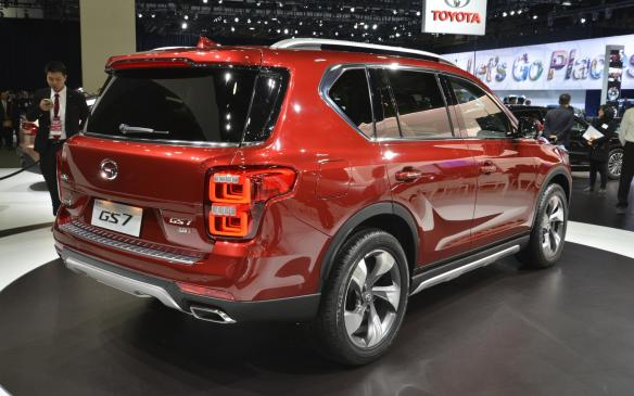 <p>TheGS7 is a five-seat, midsize SUV about the size of a Ford Edge, which will soon go on sale in China. It's powered by a turbocharged 2.0-litre four-cylinder engine of the company's owndesign, with asix-speed automatic transmission, auto start/stop and AWD.</p>