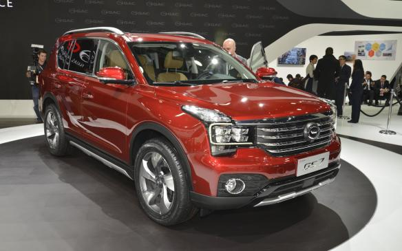 <p>The final new vehicle debut of the media days was the GAC GS7 from China'sGuangzhou Automobile Group, which may be the first wholly Chinese automaker to enter the North American market. It won't happen right away - 2019 is the current target. The company does planto establish a technical centre in the U.S., however.</p>