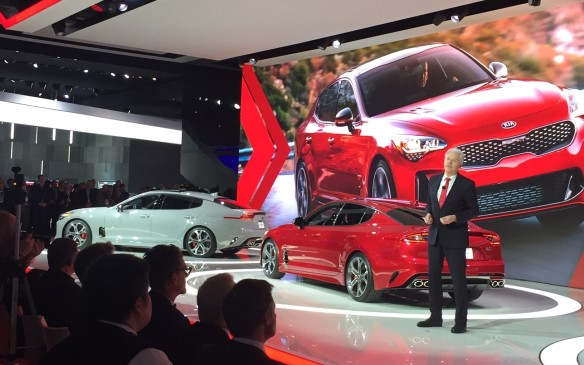 <p>1:45 pm - Kia showed off its sporting chops here in Detroit with the Stinger GT. Back in 2011, the GT Concept brought about rave reviews, and finally Kia is ready to use a twin-turbo 3.3-litre V-6 with more than365 hp to make it a reality. And if you were wondering, that's the same engine found in the Genesis G80 and it will be matched to an eight-speed automatic transmission.</p>