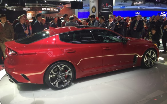 <p>The 2018 Stinger GT is a four-door sedan with a coupe-like design that can be had in rear-wheel or all-wheel drive. The Stinger immediately becomes Kia's fastest vehicle ever built. During the presentation, Kia talked about its quick acceleration that has a reported 0-100 km/h burst of 5.1 seconds and a top speed that surpasses 240 km/h, with its optional 365-hp 3.3-litre twin-turbo V-6.  <br /><br />The production version should be released in late 2017, and it will be interesting to see how a more reasonably-priced sports sedan will compete with the likes of the BMW, Mercedes-Benz and Audi.</p>