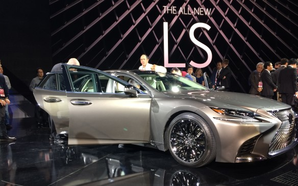 <p>8:45 AM - The all-new 2018 Lexus LS 500 was unveiled this morning, and passenger luxury is where it's at for this vehicle. Lexus's fifth generation flagship sedan is said to be  exhilarating to drive, while providing its occupants with outstanding luxury and comfort. With suspension upgraded, drivers can set the air ride suspension to adjust to their needs by use of a key fob. The 2018 Lexus LS 500 will have the world's first intuitive braking and pedestrian detection with active steering to avoid pedestrians in the driving lane.<br /><br /></p>