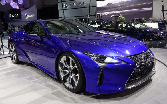 <p>Featured by Lexus in Montreal for its Canadian début was the most environmentally responsible version of its all-new luxury 2 2 coupé, the LC500h. Under the striking bodywork is a hybrid powertrain that combines a 3.5-litre V-6 engine and electric motors for a total output of 354 horsepower.</p>