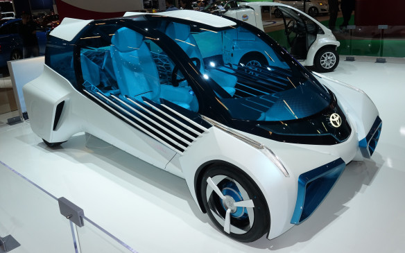 <p>The spacey, futuristic hydrogen fuel cell-powered Toyota FCV Plus Concept made its Canadian / North American auto show début in Montreal. It was first shown at the Tokyo Motor Show in 2015.</p>