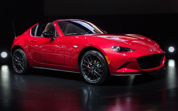 <p>Also making its first appearance in Canada is the gorgeous Mazda MX-5 RF, an all-new version of the most popular sports car in history, now in its fourth generation. The RF features a coupé-like profile when its retractable roof panel is in place.</p>