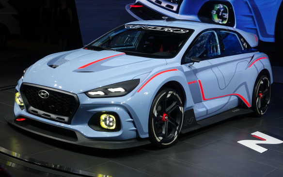 <p>The RN30 concept is a pure track car that won't be produced in current form but does offer a muscled-up preview of the first car that will come from Hyundai's performance-focused N division. This lowered, widened and lightened version of the i30 compact is powered by a turbocharged, 2.0-litre four-cylinder engine that delivers a stout 374 horsepower.</p>