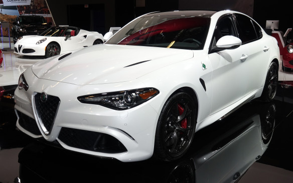 <p>The Alfa Romeo Giulia Quadrifoglio is a gritty, racy Italian newcomer that throws down the gauntlet to the very best American and German sports sedans with its twin-turbocharged, 505-horsepower, 2.9-litre V-6 engine and finely-tuned chassis.</p>