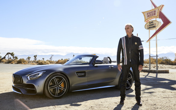 <p>Peter Fonda with Mercedes-AMG GT Roadster</p>