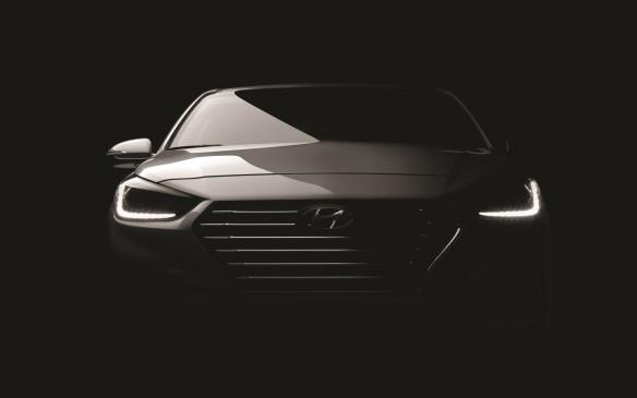 <p>2018 Hyundai Accent teaser</p>