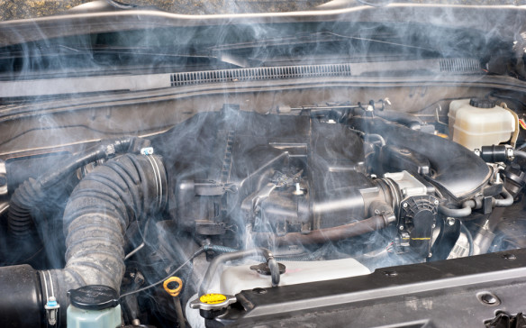 <p>An overheating engine is not an uncommon occurrence as a neglected vehicle ages. An old, malfunctioning radiator or cooling fan is all it takes to send the engine temperature high into the red zone. Combine an overheated engine with the numerous flammable liquids that keep a car running, including engine oil, automatic transmission fluid, hydraulic brake fluid and engine coolant (ethylene glycol), and you have a recipe for disaster. The exhaust manifold on a hot-running engine can reach in excess of 500°C – high enough to ignite any of these liquids oozing from a leaky seal.</p>