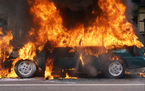 "<p>""Who brought the marshmallows?"" Car fires are no laughing matter, however. According to the U.S. National Fire Protection Association, there were 174,000 vehicle fires in 2015 resulting in 445 deaths – many of which could be avoided. </p> <p>By Mark Toljagic</p>"
