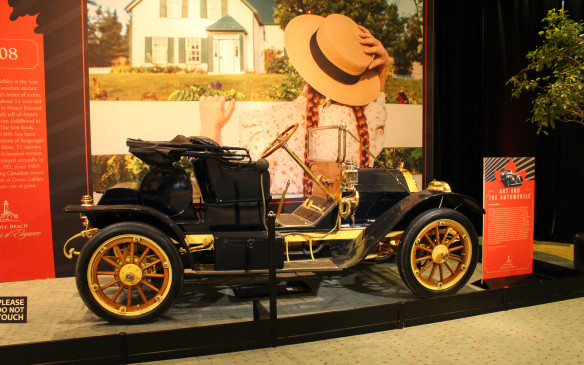 <p>Among the early Canadian marques that failed to survive was the McKay, built in Nova Scotia, beginning in 1908, with a locally produced body and an American Buda engine. Only about 125 McKays were built before the company was shut down in 1914. This 1910 model, one of only two known to survive, was acquired by the Canadian Automotive Museum in 1986. The McKay is set in front of an 'Anne of Green Gables' scene provided by Parks Canada.</p>