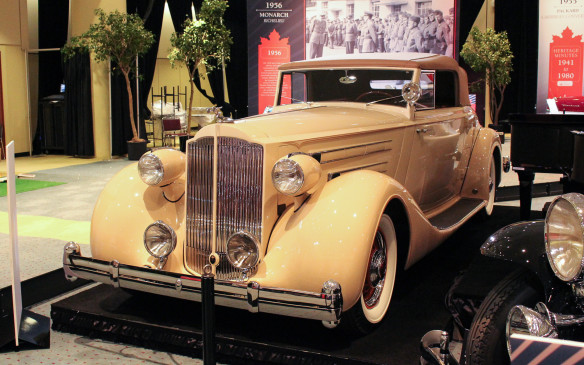 <p>This 12-cylinder 1935 Packard Twelve Coupe Roadster was not built in Canada, although other Packards were during the 1930s. This rare model, with Body by Dietrich, was delivered new to Packard Ontario Motor Car Co. for the founder of National Grocers in Canada.</p>