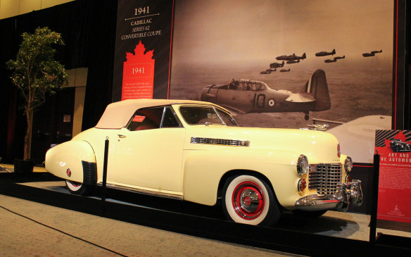 <p>This 1941 Cadillac Series 62 Convertible Coupe is the only such model known to exist with its body modified by designer Howard (Dutch) Darrin. It's easily identified by the trademark 'Darrin Dip' in the door.</p>
