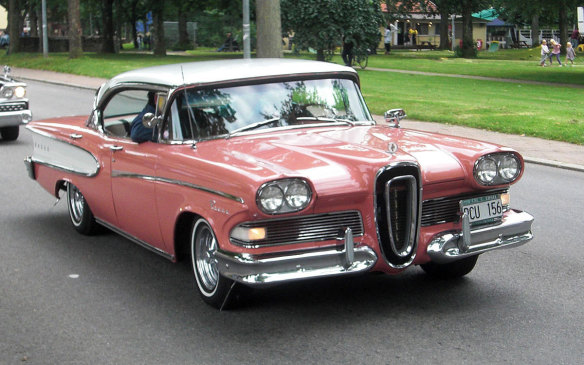 <p>Edsel was one of Ford's most thoroughly researched developments, going through two years of extensive development and marketing research prior to the line's launch. Meant to compete against Buick and De Soto, it was a premium automobile line with first-in-class features such as instrument cluster warning lights, push-button transmission, seatbelts and child-proof rear locks. However, all that research and development costs money, and the buying public considered the car overpriced, overhyped and underwhelming. And unattractive, which is probably the worst thing for a car. (Credit: Wikipedia/Achird)</p>