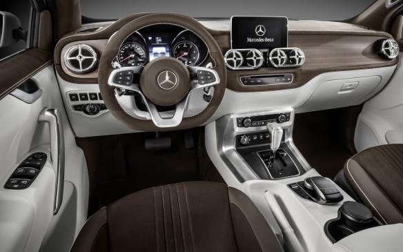 <p>Mercedes Concept X-Class Study interior</p>