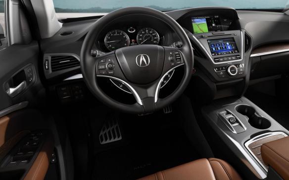 <p>2017 Acura MDX Sport Hybrid interior</p>