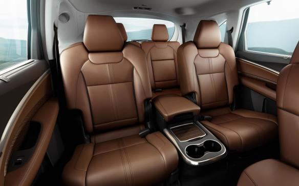<p>2017 Acura MDX Sport Hybrid rear seating</p>